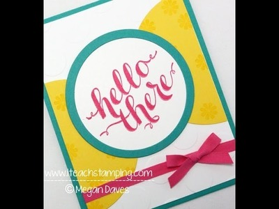 Using Stampin' Up! Hello There Stamp Set to Make a Handmade Card