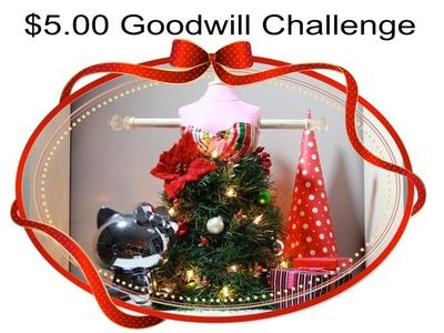 $5 Goodwill Challenge + DIY