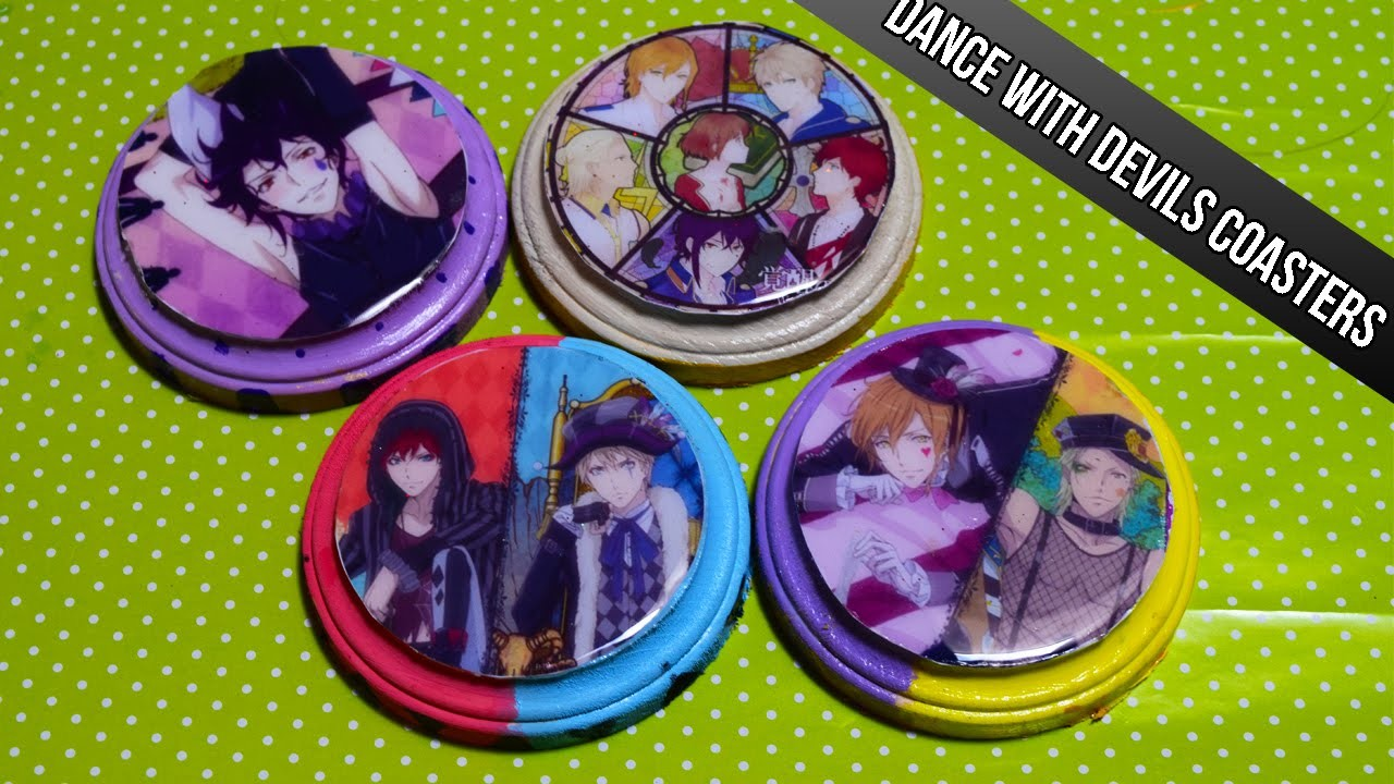 Anime Decorations DIY: Dance With Devils Coasters