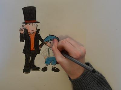 ART BASICS #2 DIY! - Professor Layton and Luke!