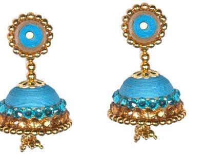 Beautiful Paper Quilling Ear Ring Jhumka for Silk Saree - DIY Tutorial