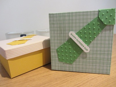 Cherry on Top Father's Day Handmade box - Stampin Up UK