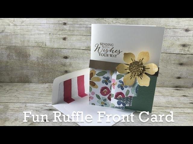 Create a Fun Ruffle on Your Handmade Card