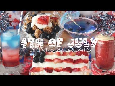 DIY 4th of July Drinks & Treats