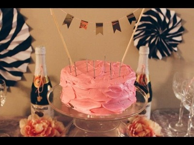 DIY Cake Topper, Nail Bar and Girls Night 17th Birthday Party | Pinterest Approved