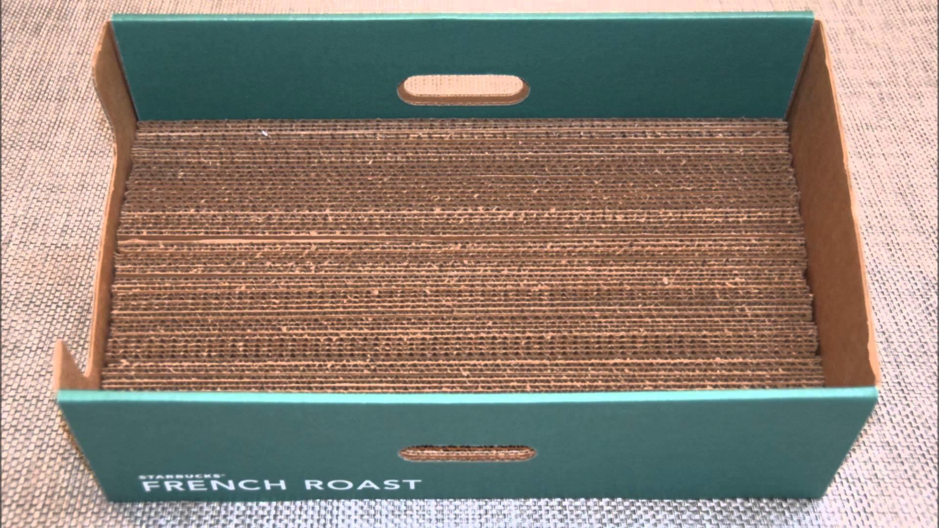 DIY Cardboard Cat Scratching Box