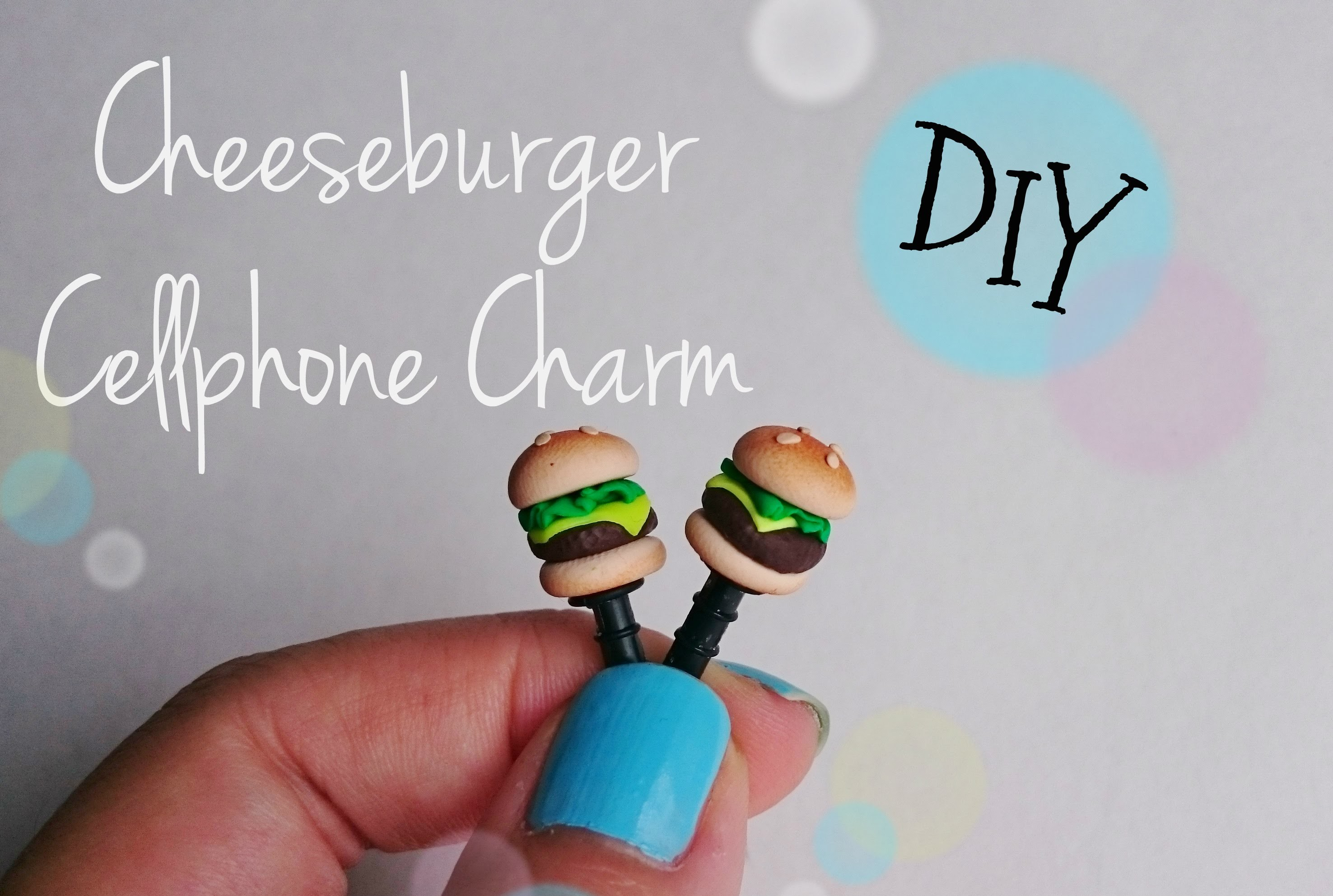DIY: Cheeseburger Dust Plug Cellphone Charm