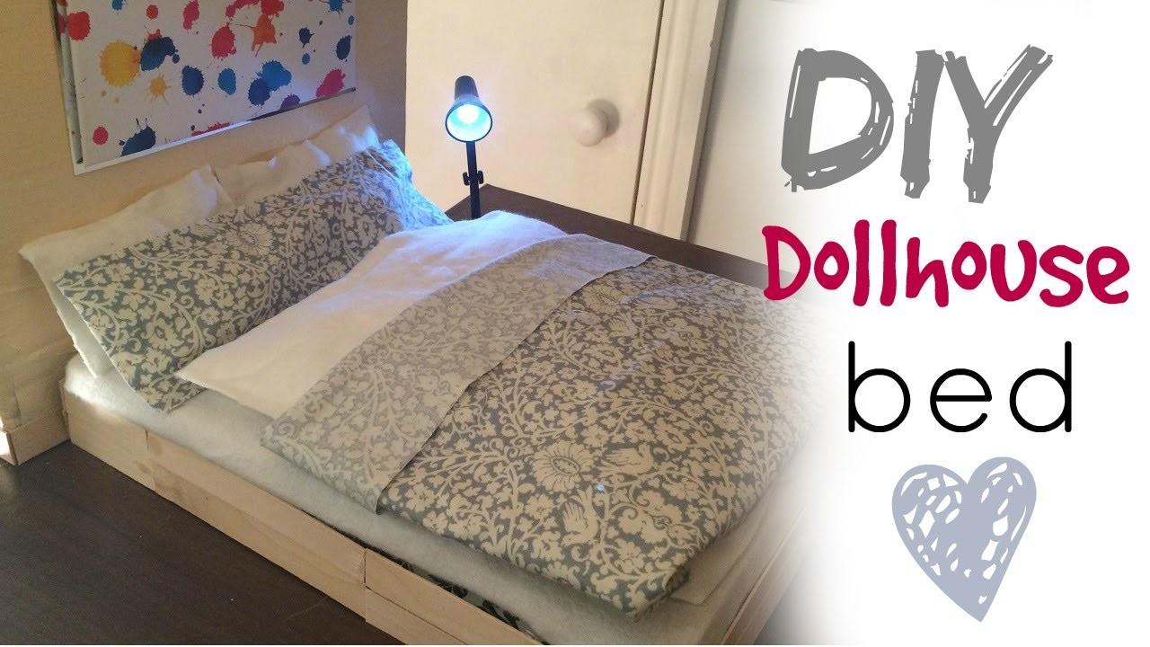 DIY craft:  barbie doll bed