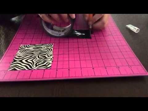 DIY duct tape tissue box part 1