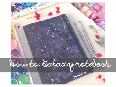 DIY Galaxy Notebook