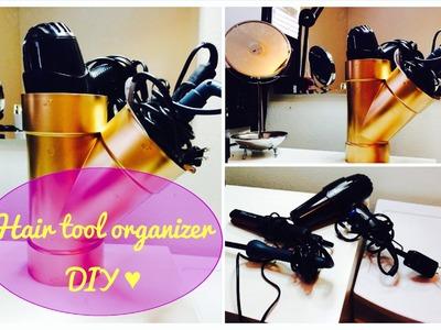 DIY Hair Tool Organizer   BeautyMeTriny