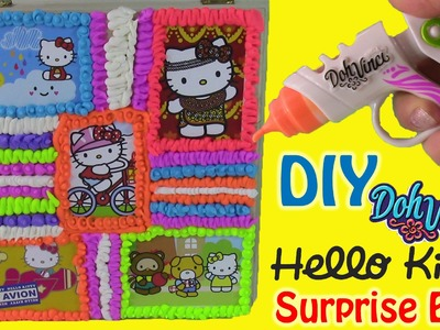 DIY Hello Kitty BOX with DohVinci! Surprise Toys inside! Disney Tsum Tsum Bath Bomb!