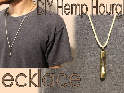 DIY Hemp Hourglass Necklace, Quick and Easy!