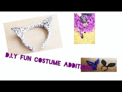 DIY - How to make Fingerless GLOVEs BUNNY EARS and CAT EARS