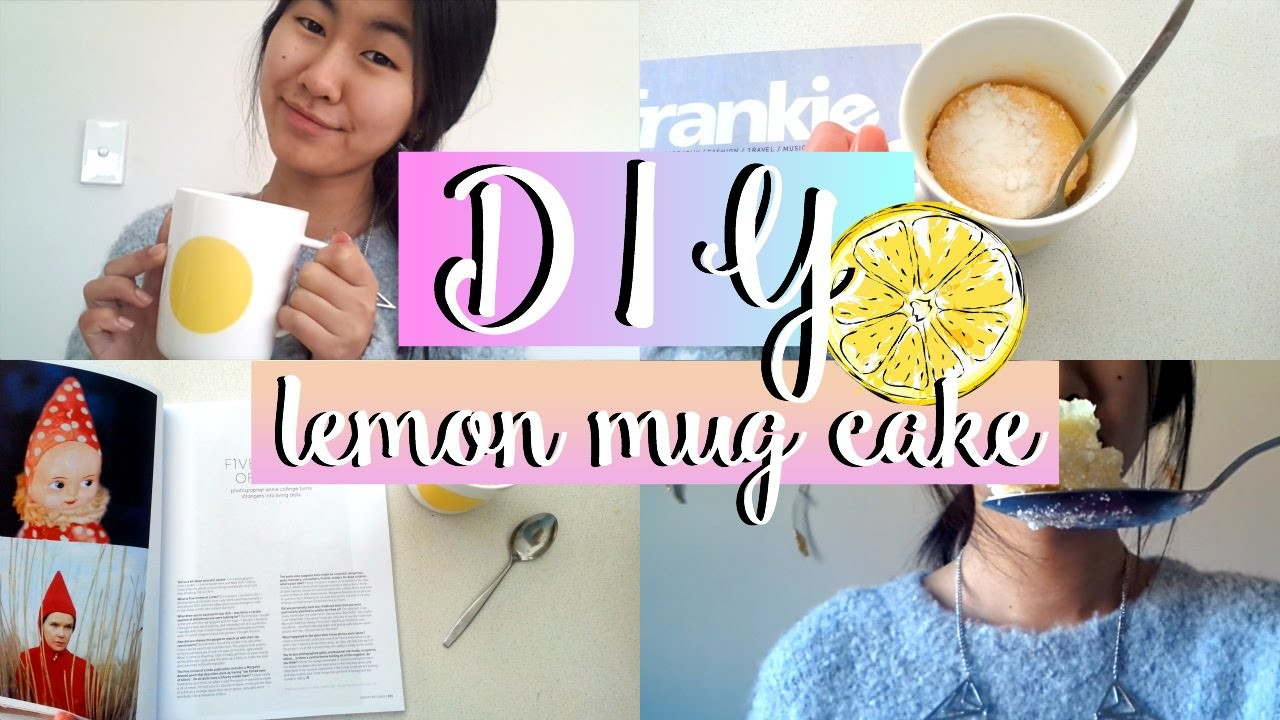 DIY Lemon Mug Cake︱Easy and Quick Snack