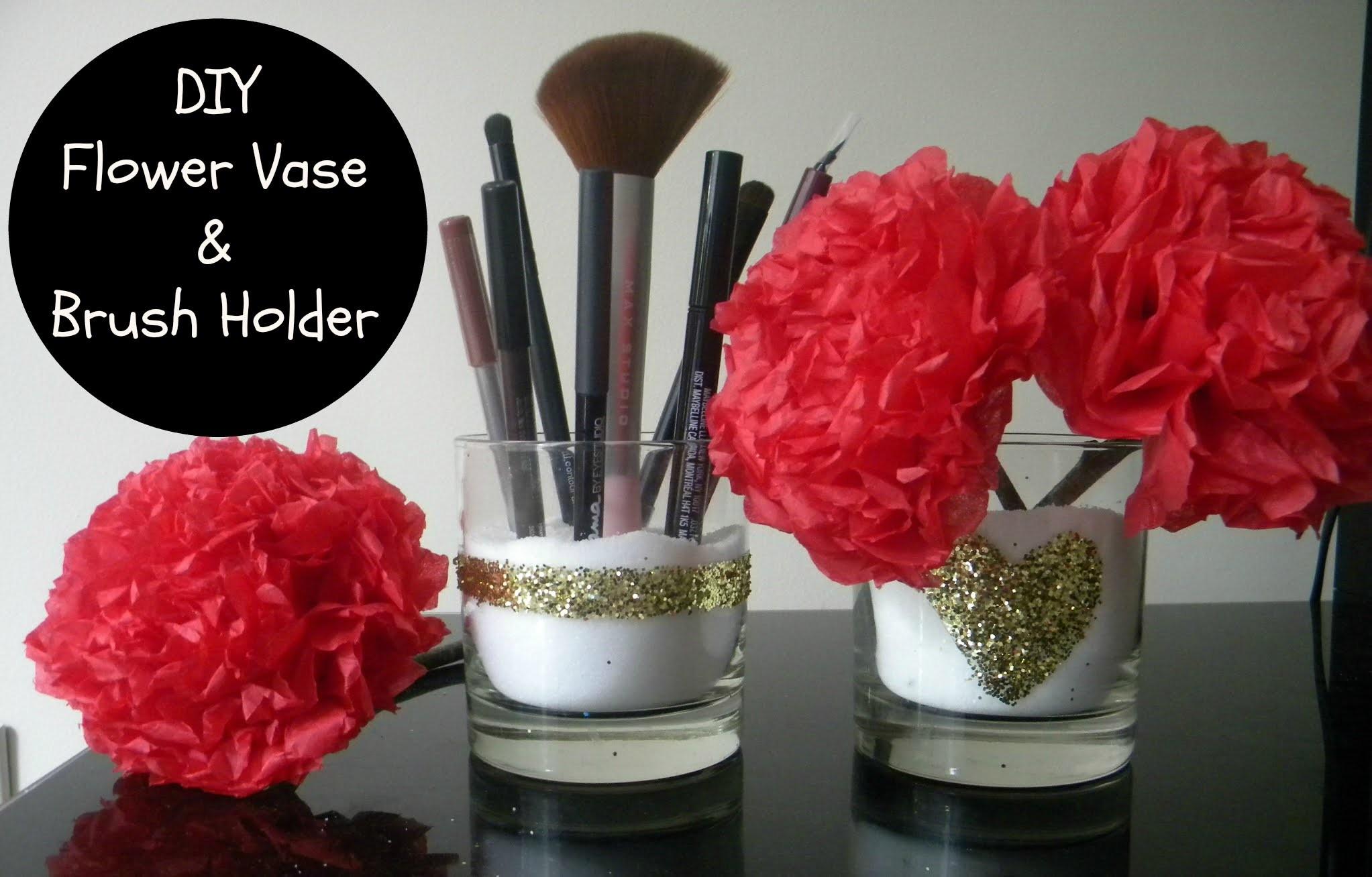 Diy Makeup Brush Holder & Flower Vase