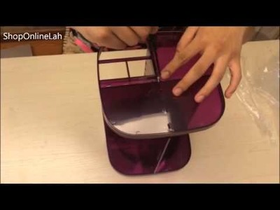 DIY Makeup Organizer . Spinning Makeup Organizer - How to Assemble