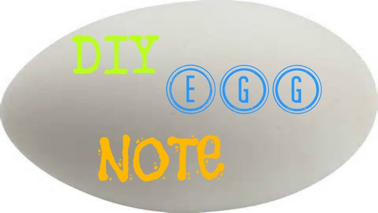 DIY message in a egg