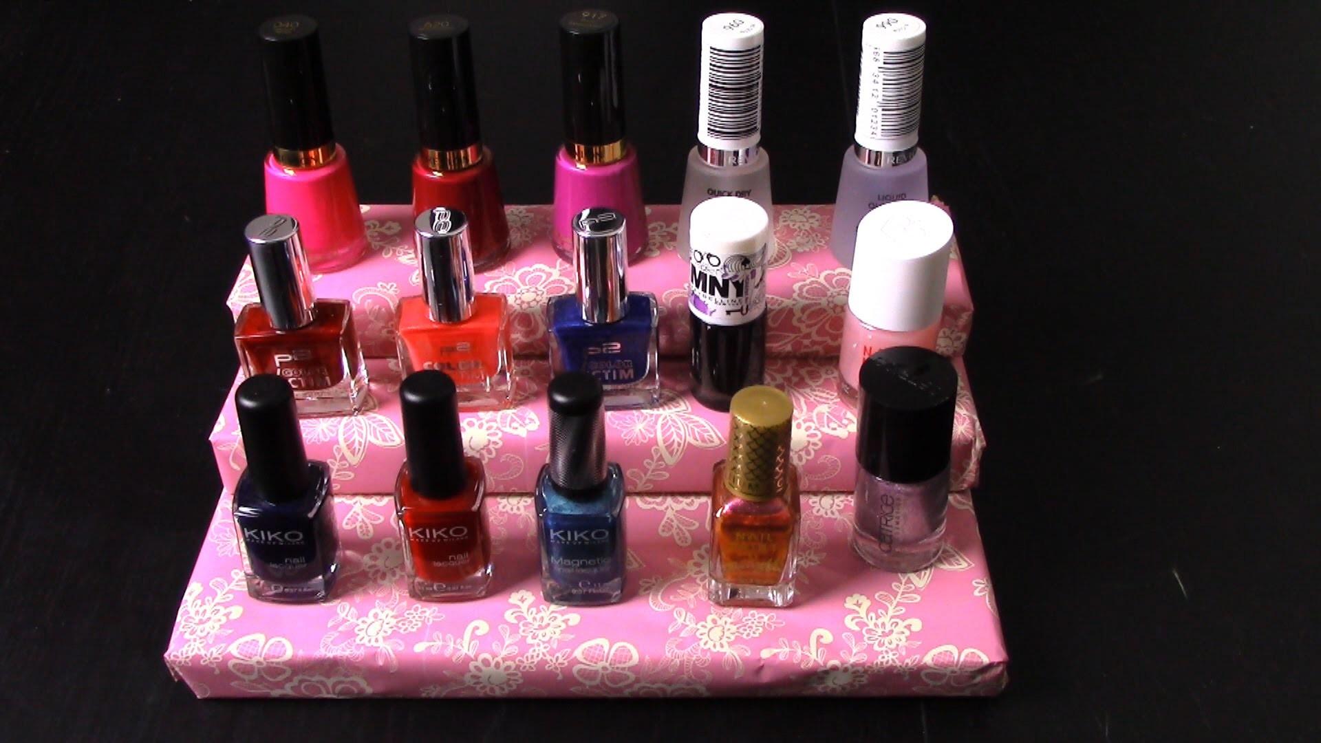 DIY Nail Polish Stand (easy peasy Christmas or birthday gift idea)