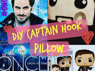 DIY Once Upon a Time - Captain Hook Pillow. Gift Idea