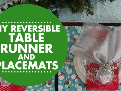 DIY Reversible Table Runner & Placemats