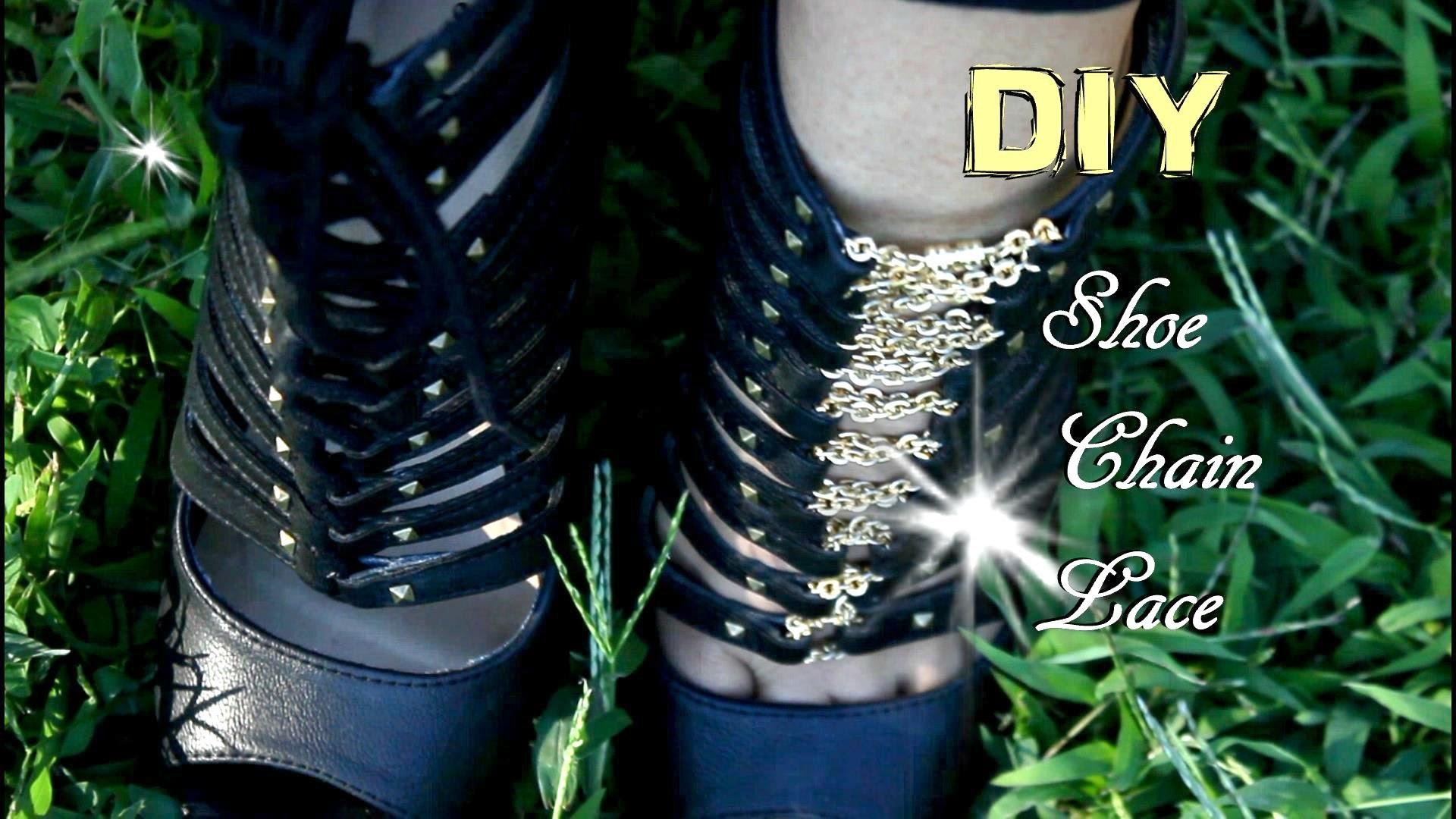 DIY Shoe Chain Lace