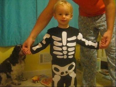 DIY Toddler Skeleton Costume