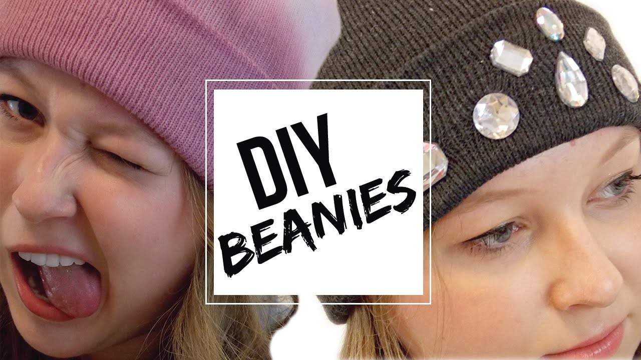 DIY Trendy Beanies | Easy + Cheap!