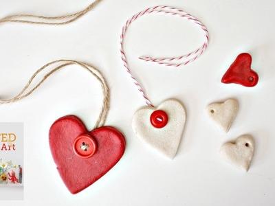 Easy Salt Dough Recipe & Heart Ornaments DIY