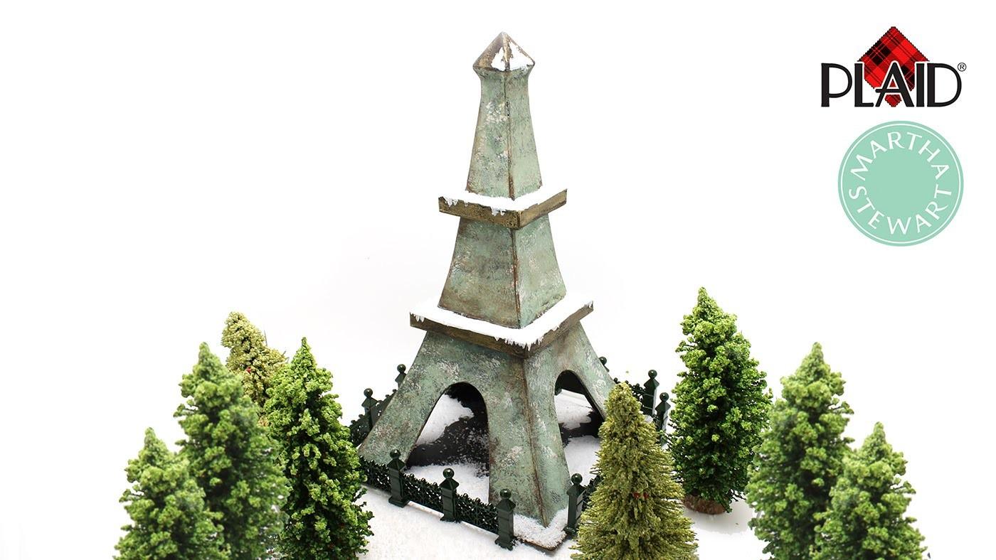 Eiffel Tower in the Snow (DIY with Martha Stewart)