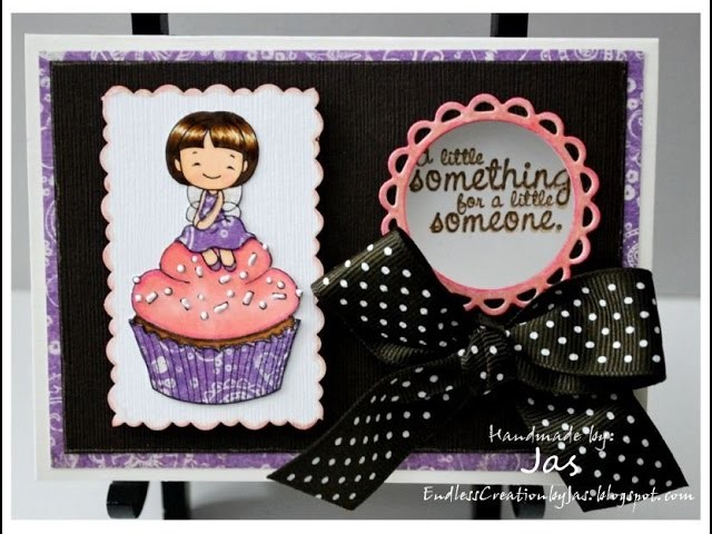 Handmade CARD from start to finish #10- Cupcake