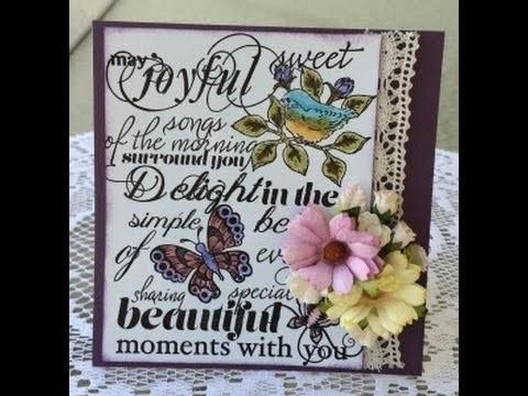 Handmade Card using Heartfelt Creations Birds and Blooms