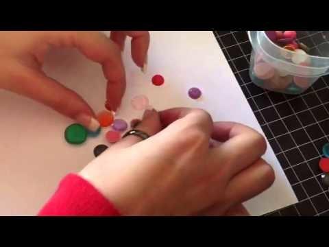 Handmade enamel dots