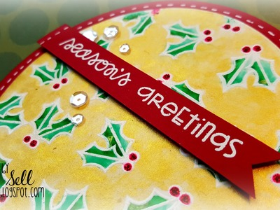 Handmade Holiday 2015: Day 4 ~ Watercolor with Perfect Pearls + Paper Smooches
