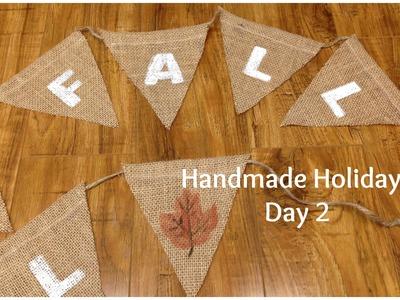 Handmade Holidays Day 2: Fall Bunting