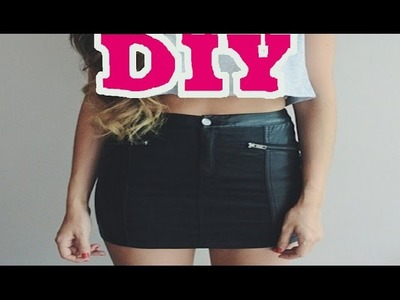 How to make a leather panel skirt DIY