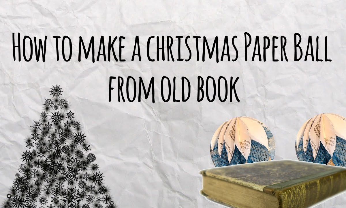 How to Make a Paper Ball from Old Book- Master of DIY - Creative Ideas For Home