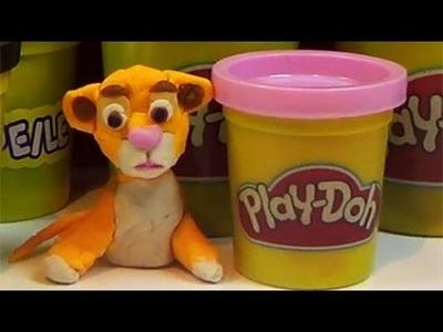 Lion King Simba Disney handmade from Play Doh