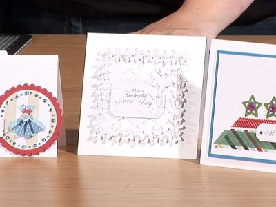 Making Frames And Toppers For Handmade Cards | docrafts Creativity TV