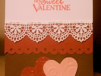 My Sweet Valentine Handmade Greeting Card