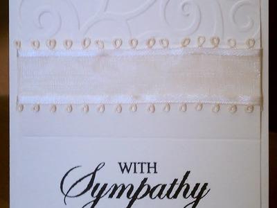 Peaceful Cream Handmade Sympathy Card