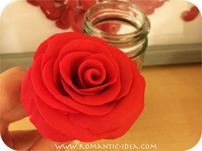 Rose That Never Dies for Valentine's Day, Easy Handmade Play Doh Rose| Romantic-idea.com