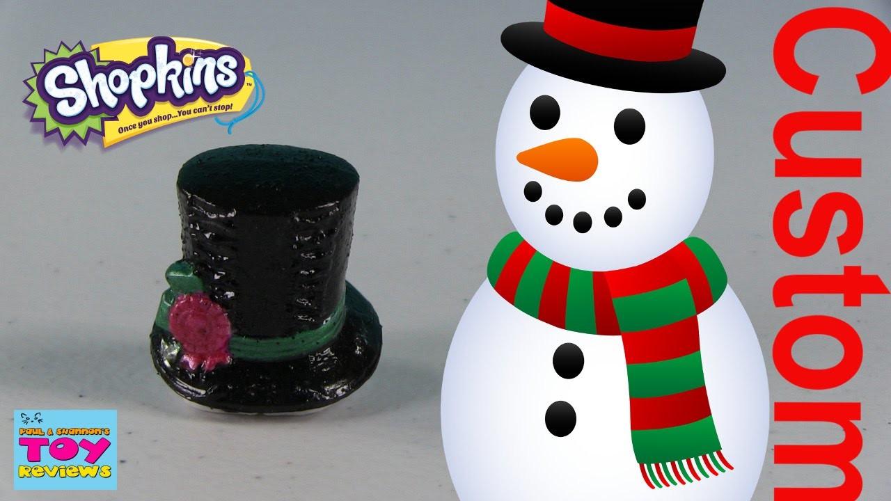 Shopkins Custom Repaint DIY | Frosty The Snowman Magical Hat | PSToyReviews