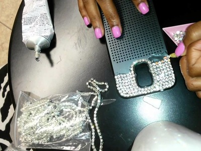 Sparkly DIY Rhinestone  Cell Phone Case
