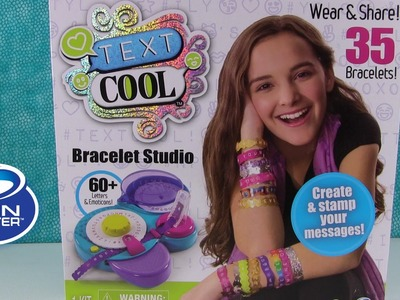 Text Cool Bracelet Studio DIY Toy Review | Spin Master Toys | PSToyReviews