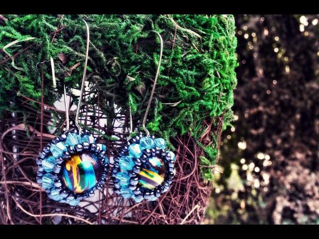 Tutorial handmade earrings with beads