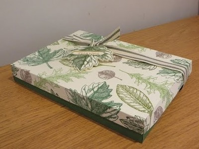 Vintage Leaves Handmade Gift Box Tutorial, August Thank You Gift