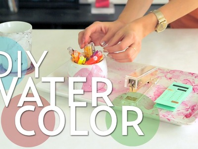 Water Color on Ceramic Dishes DIY | #PrettyLittleProjects