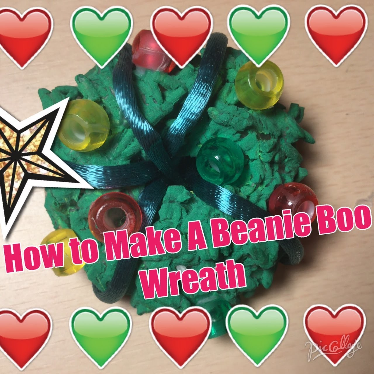 Christmas DIY #3 Beanie Boo wreath