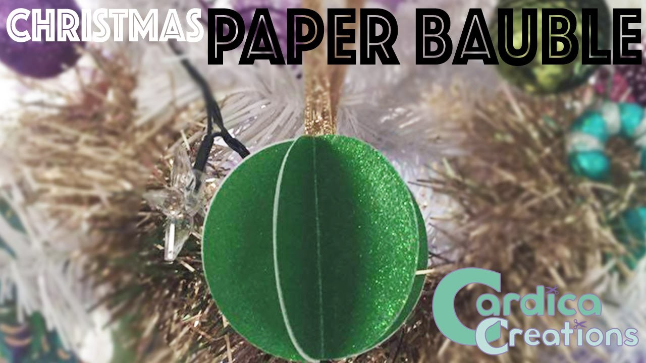 Christmas DIY: Paper Bauble